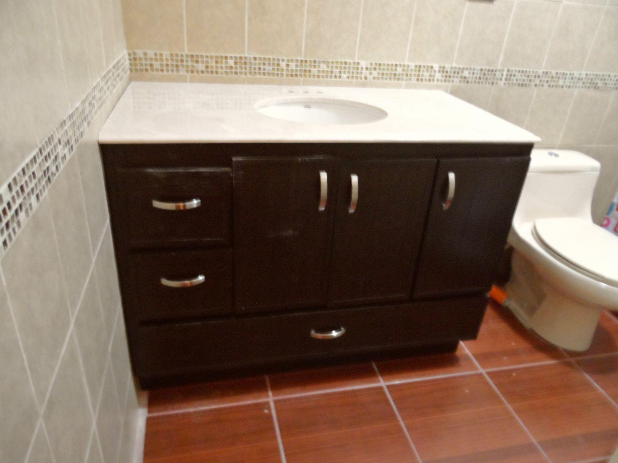 Plastic Bathroom Cabinet 3 Door Drawers